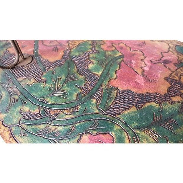 Art Nouveau Art Nouveau Hand-Carved and Painted Wood Coat Rack For Sale - Image 3 of 8