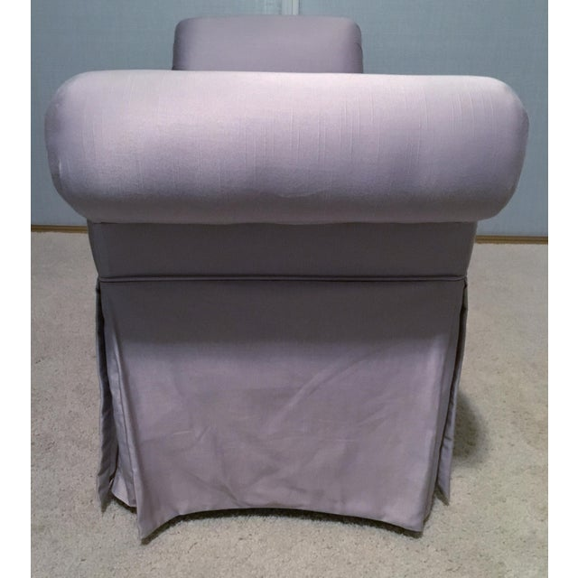 Art Deco Lavender Chaise Lounge Chair/Bench For Sale - Image 3 of 8