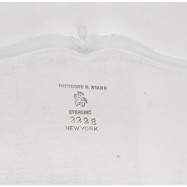 """Theodore B. Starr 14.5"""" Sterling Sandwich Tray C.1880s For Sale - Image 10 of 11"""