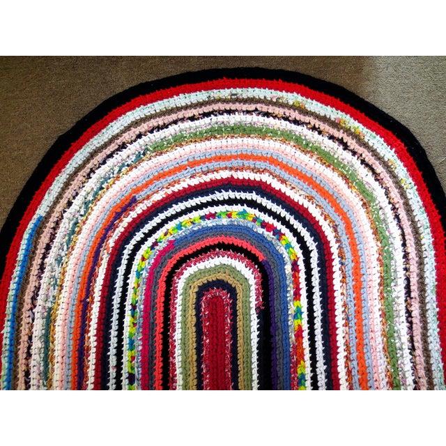 2000 - 2009 Modern Braided Rag Rug- 4′ × 20′6″ For Sale - Image 5 of 13