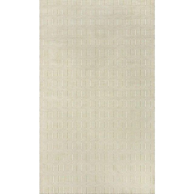 """Erin Gates Newton Holden Green Hand Woven Recycled Plastic Area Rug 5' X 7'6"""" For Sale"""