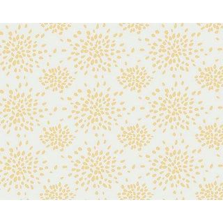 Hinson for the House of Scalamandre Fireworks Wallpaper in Yellow on White For Sale