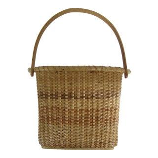 Vintage Natucket Wall Basket For Sale