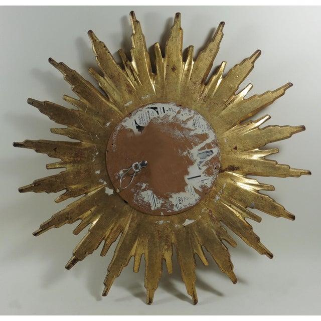 French Sunburst Gilded Wood Mirror - Image 4 of 4