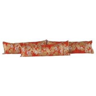 Silk Kimono Bolster Pillows - Set of 3