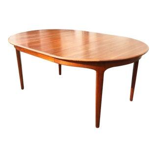 Danish Teak Extendable Dining Table by Henning Kjaernulf for Soro Stole For Sale