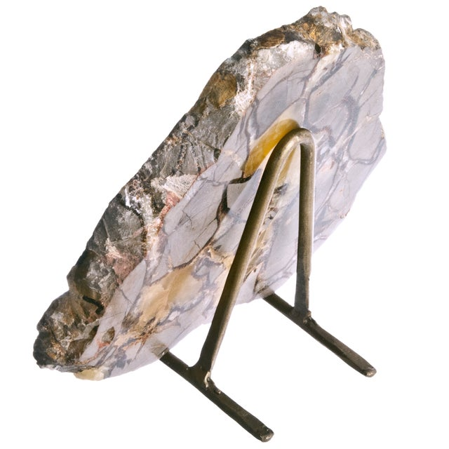 Polished Septarian Stone Slice on Stand - Image 2 of 2