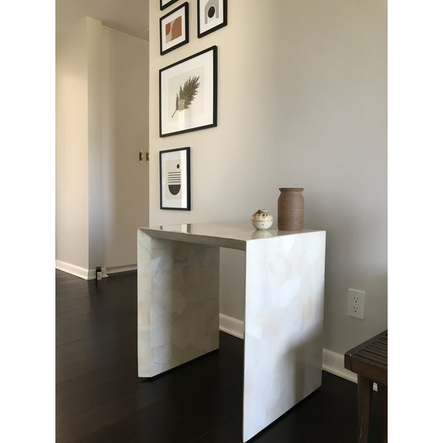 Modern Made Goods Sleek Faux Horn Side Table For Sale - Image 12 of 13
