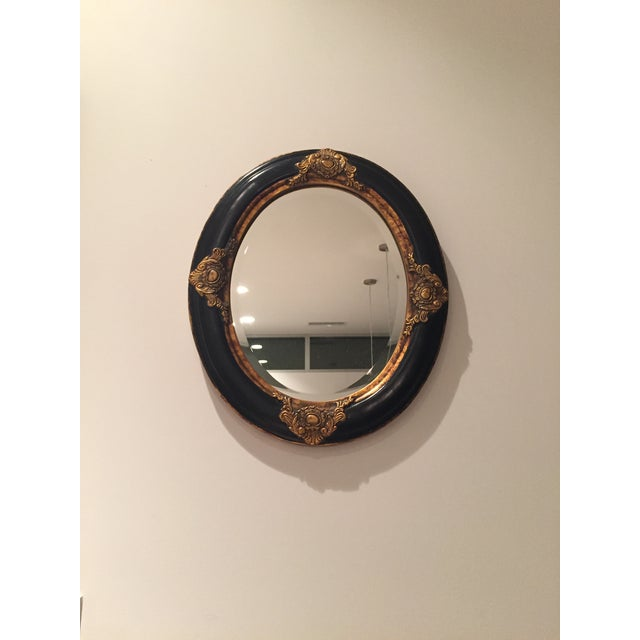 Beveled Black & Gilded Mirror - Image 5 of 8