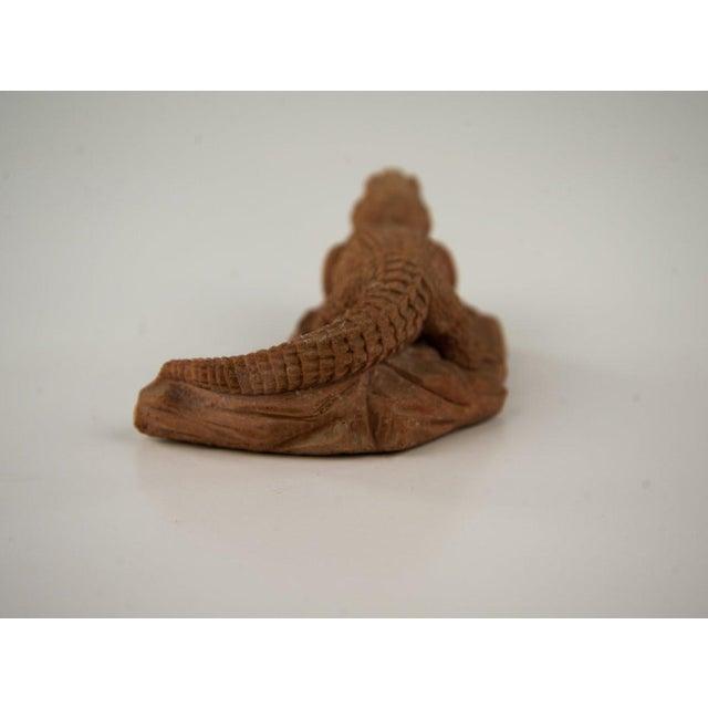 Italian Frostino Gianelli Plaster Crocodile Sculpture For Sale - Image 3 of 6