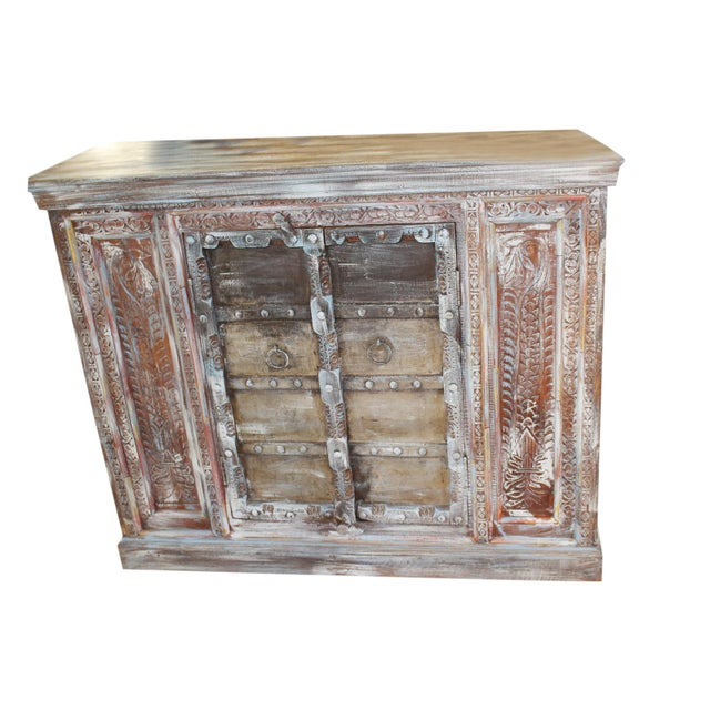 1920s Boho Chic Distressed Buffet For Sale - Image 4 of 4