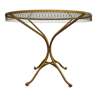 1950s Hollywood Regency Style Thinline Bistro Table For Sale