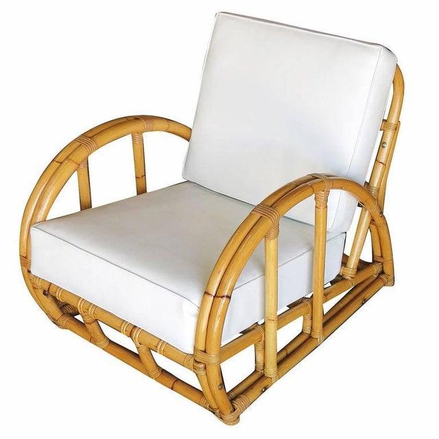 Half Moon Rattan Two Strand Lounge Chair - Image 5 of 6
