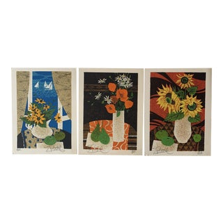 Mid 20th Century Yves Ganne Artist Proof Lithographs - Set of 3 For Sale