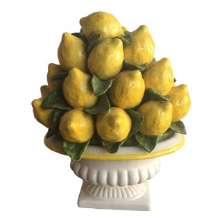 1950s Italian Ceramic Lemon Topiary For Sale