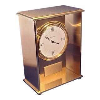 Tiffany & Co. Swiss Made Quartz Brass Mantel Clock For Sale