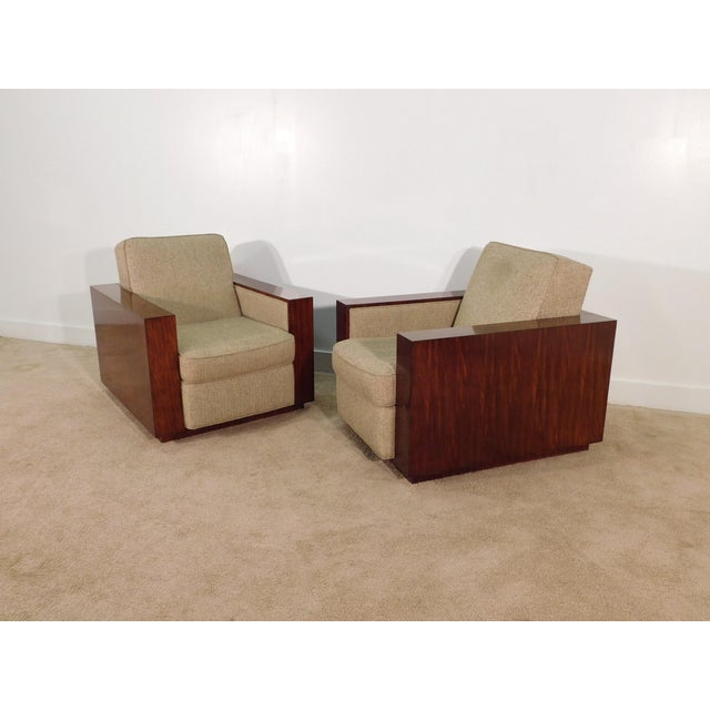 Henredon Ralph Lauren Rosewood Metropolis Collection Club Tub Deck Chairs- A Pair For Sale - Image 12 of 13