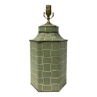Hexagone Modern Hand Painted Tea Caddy Lamp