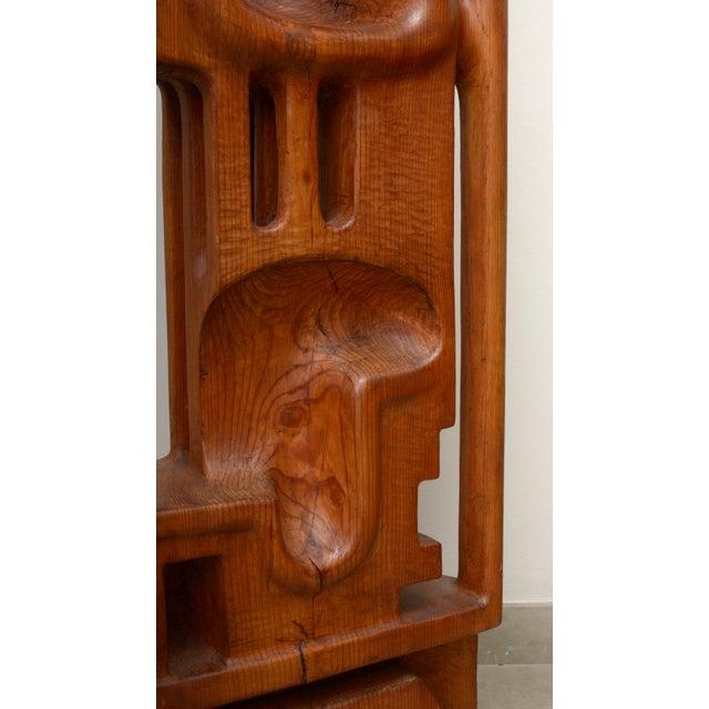 Henryk Burzec Abstract Wood Sculpture For Sale - Image 6 of 11
