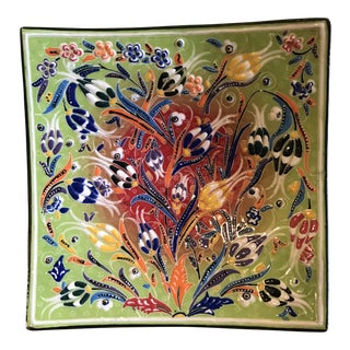 Turkish Hand Made Decorative Plate For Sale
