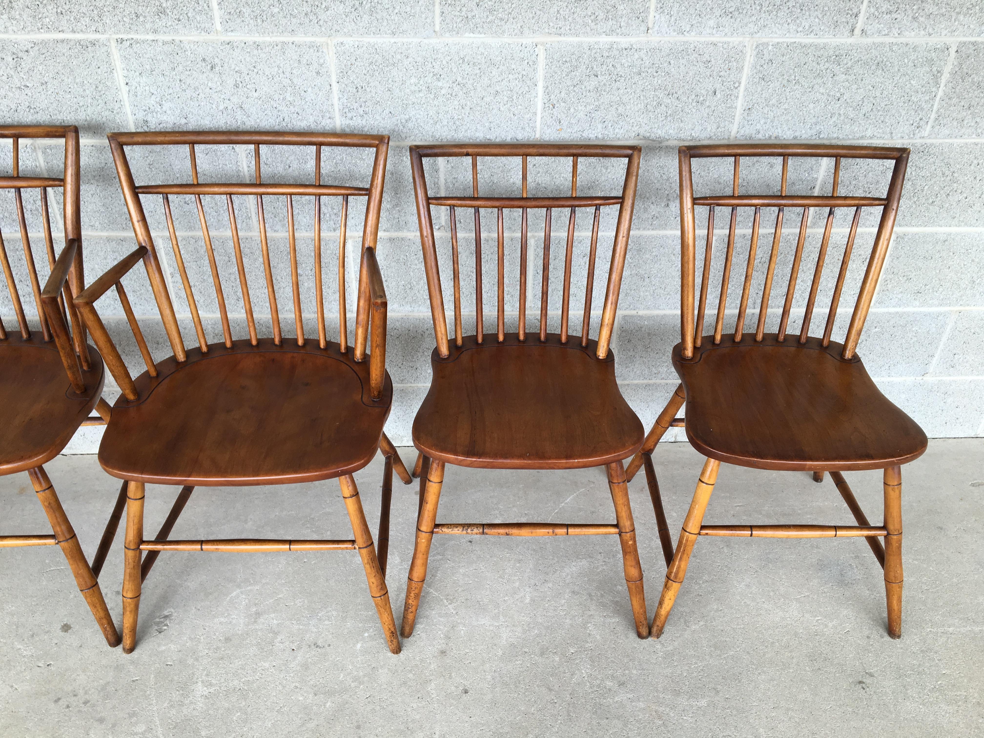 British Colonial Curtis Colonial Reproductions Birdcage Dining Chairs   Set  Of 6 For Sale   Image