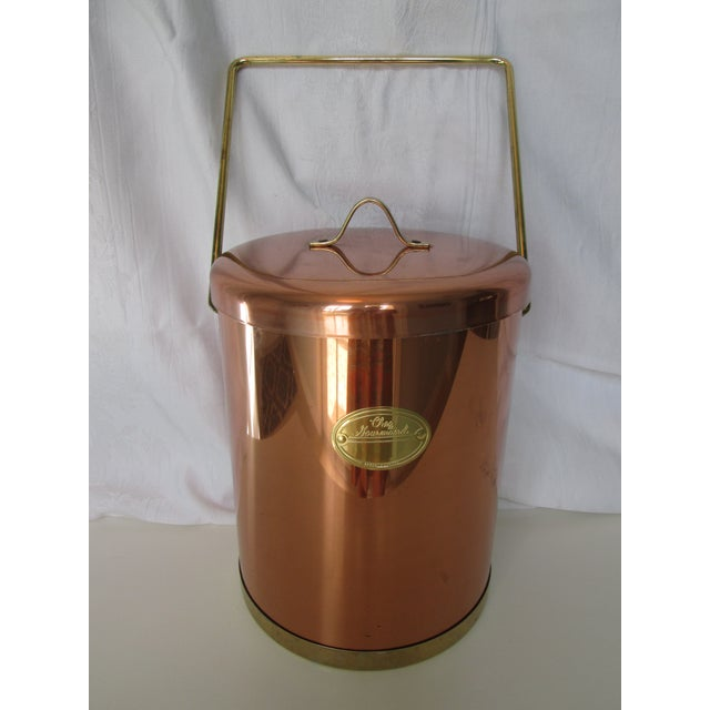 Vintage Coppertone Tall Ice Bucket - Image 2 of 7