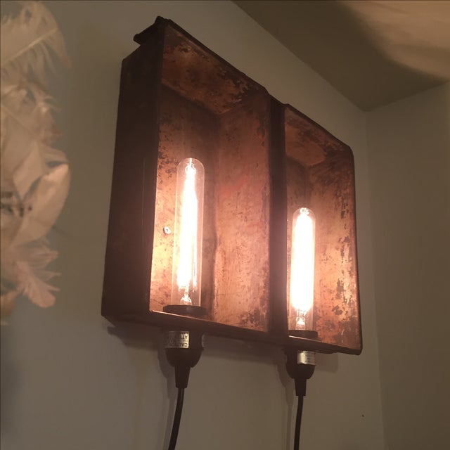 Industrial Bread Pan Sconce - Image 3 of 5