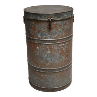 1920s Metal Container For Sale