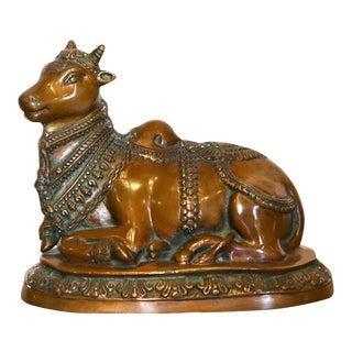 Nandi Brass Statue For Sale