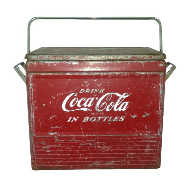 1955 Original Coca Cola Cooler Drink Server - Image 1 of 9