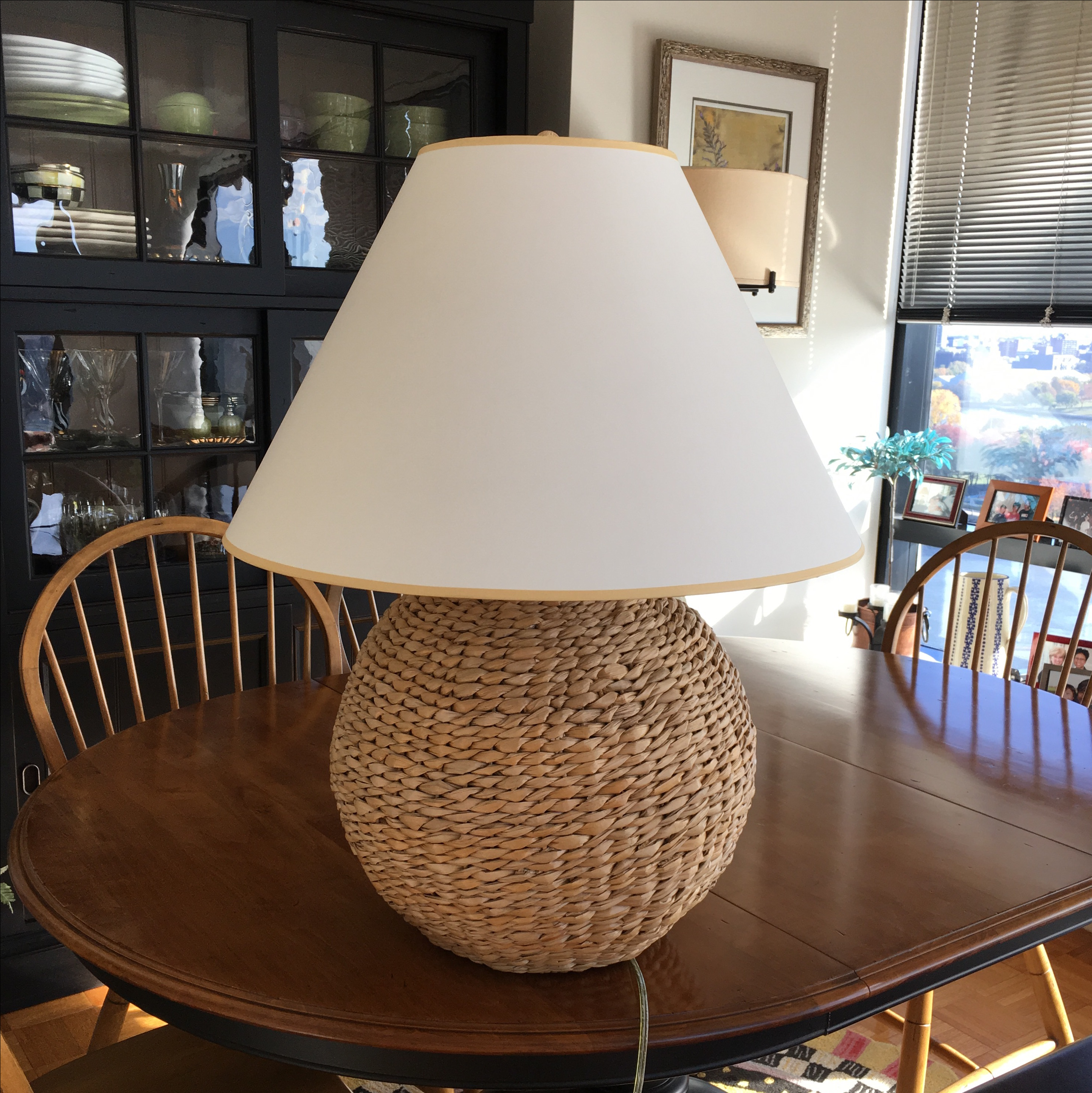 Ethan Allen Seagrass Table Lamp   Image 5 Of 6