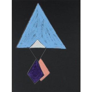 20th Century Angular Abstract Drawing For Sale