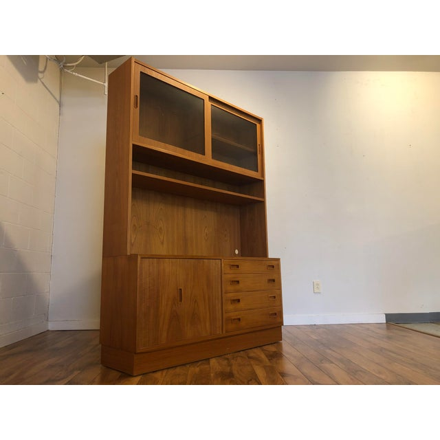 Poul Hundevad Teak Sideboard With Display Hutch For Sale - Image 10 of 10