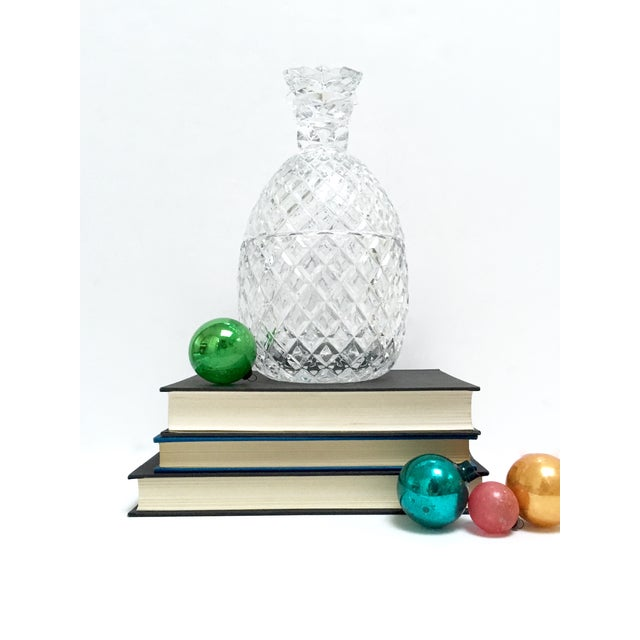 Vintage Large Clear Glass Pineapple With Lid - Image 8 of 9
