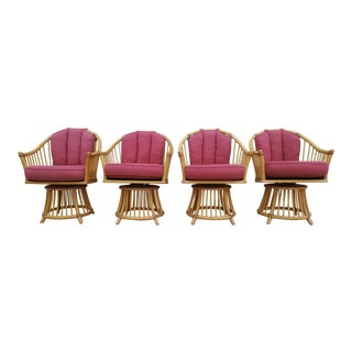 Henry Olko for Willow & Reed Barrel Swivel Chairs - Set of 4 For Sale