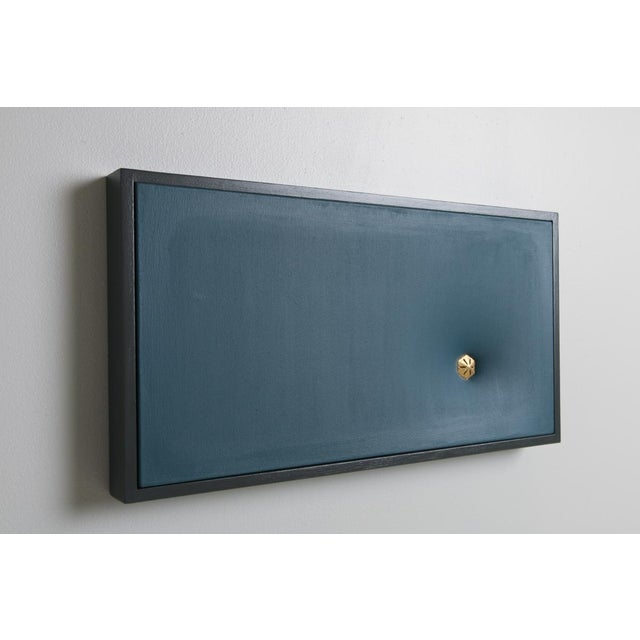 Topher Gent Blue Contemporary Painting Wall Sculpture C. 2019 For Sale In Providence - Image 6 of 7