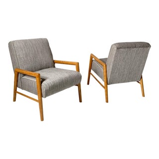 Mid-Century ModernLeslie Diamond for Conant Ball Lounge Chairs - a Pair For Sale