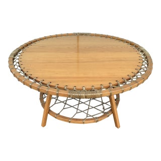 1980s Uncommon Vermont Tubbs Coffee Table For Sale
