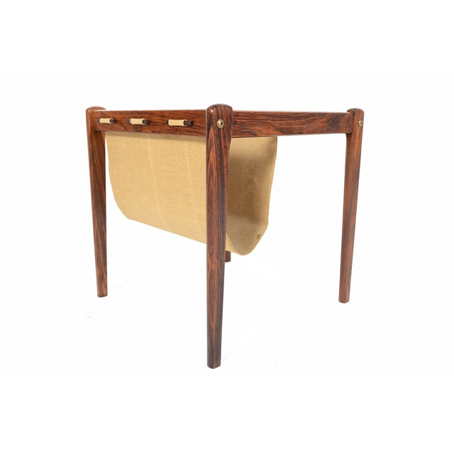 Bent Silberg Danish Modern Rosewood Side Table - Image 4 of 7