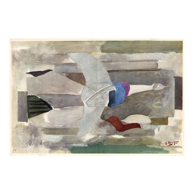 """""""The Spirited Dove"""" by Georges Braque, Original Lithograph From """"Verve No. 31-32"""" (1955) For Sale"""