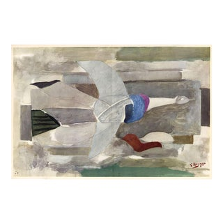 """The Spirited Dove"" Original Lithograph by Georges Braque From ""Verve No. 31-32"" (1955) For Sale"