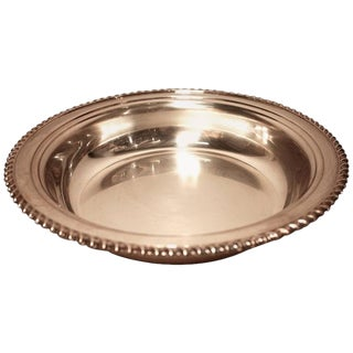 Traditional Silver Wine Plate For Sale