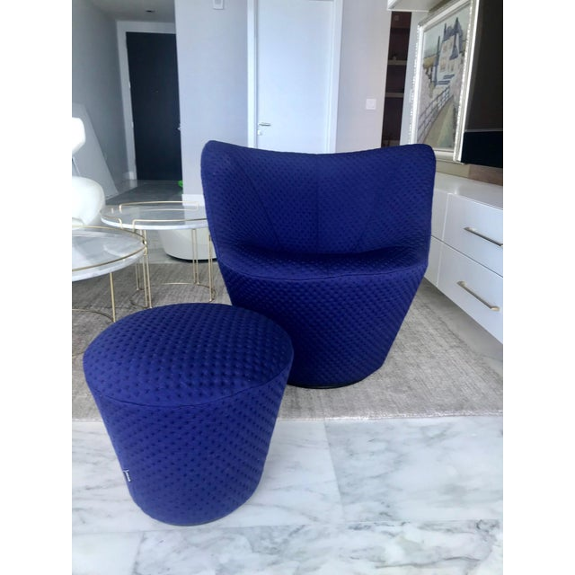 Anda Swivel Armchair and Ottoman by Pierre Paulin for Ligne Roset, C. 2018 For Sale - Image 13 of 13