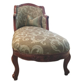 Louis XV Extended Lounge Chair For Sale