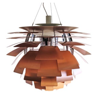 1950s Large Ph Artichoke Copper Lamp by Poul Henningsen For Sale