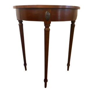 Regency Bombay Co. Cherry Demi-Lune Hall Table For Sale