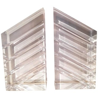 Pair of Lucite Bookends by Ritts & Co.