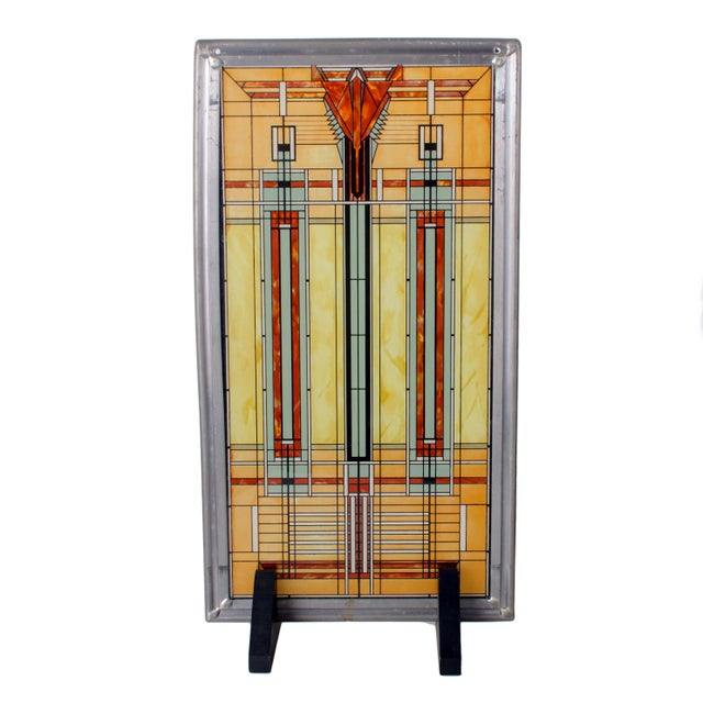 Late 20th Century Frank Lloyd Wright Stained Glass Panel Collection For Sale - Image 5 of 8