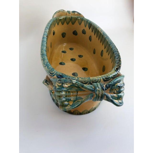 Ceramic Large Vintage Italian Jardiniere For Sale - Image 7 of 13