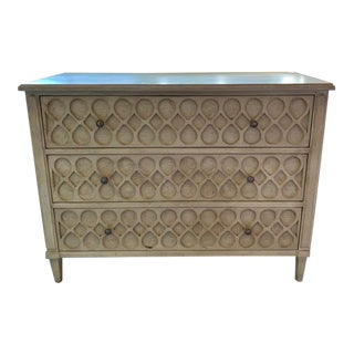 Hickory Chair 3 Drawer Rustic Scrollwork Dresser For Sale